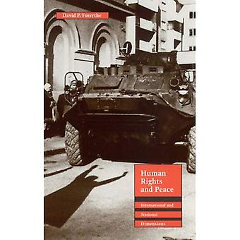 Derechos humanos y paz: internacional y nacionales dimensiones (los derechos humanos en perspectiva internacional) (humanos...