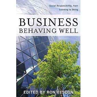 Företag beter sig väl: Socialt ansvar, från lärande att göra