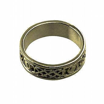 9ct Gold 6mm Celtic Wedding Ring Size H