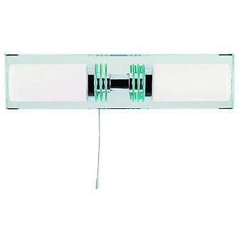 Doppia parete LED lampada con specchio piastra - Searchlight 5612-2CC-LED