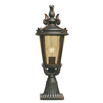 Baltimore BT3/Medium klarat brons utomhus piedestal lykta - Elstead belysning Bt3 / BT3/M