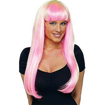 Neon Pink/Blonde Perücke