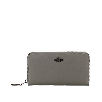 Coach Grey Leather Wallet