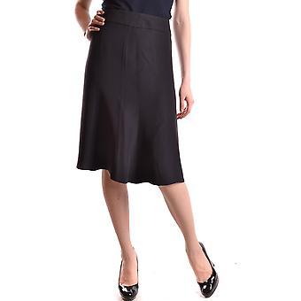 Armani Collezioni svart acetat kjol