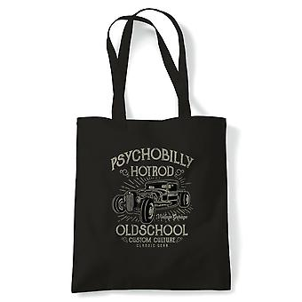 Pschobilly Hot Rod | Funny Tote Bag |Looking Good Old Handsome Hotrod Classic Racer Race Confidence Hot Rod Car | Multiple Colours Available