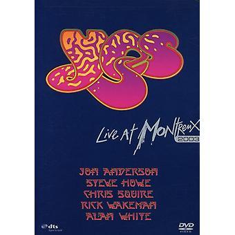 Sí - en vivo en la importación de los E.e.u.u. de Montreux 2003 [DVD]