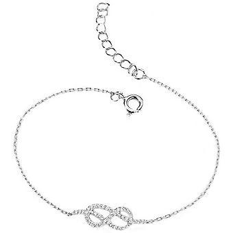 Begin Infinity Cubic Zirconia armband - zilver