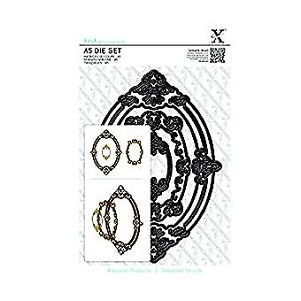 Xcut A5 Die Set (3pcs) - Ornate Frames Oval (XCU 503251)