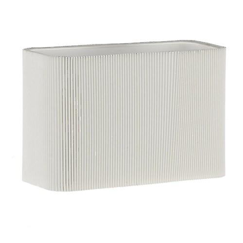 Dar S1075 Piza Wall Bracket Shade In Micro Pleat  Cream