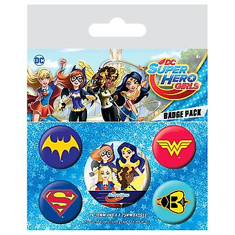 DC Super Hero Girls Logos Badge Pack