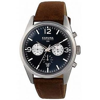 Kahuna Mens Brown Strap Blue Dial Chrono KCS-0011G Watch