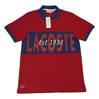 Lacoste Men's Light Weight Logo Printed Polo Shirt - YH1293-1UM