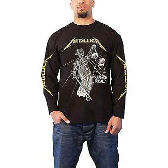 Metallica T Shirt And Justice For All Band Logo new Official Mens Long Sleeve