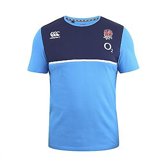 2016-2017 England Rugby Cotton Training Tee (Vivid Blue) - Kids
