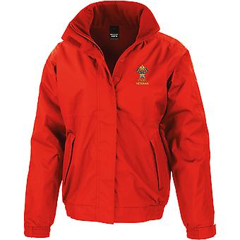 12th Royal Lancers Veteran - Licensed British Army Embroidered Waterproof Jacket With Fleece Inner