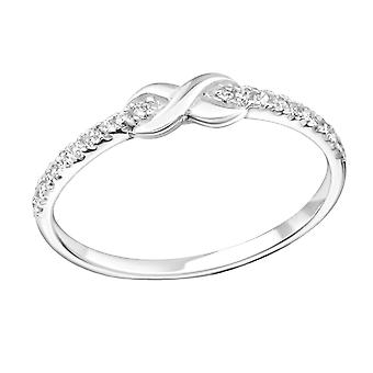 Infinity - 925 Sterling Silver Jewelled Rings - W25263X
