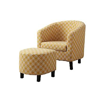 Accent chair - 2pcs set/ burnt yellow