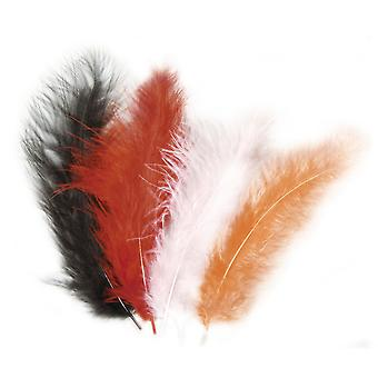 15 Mixed Natural Fluffy Feathers for Crafts