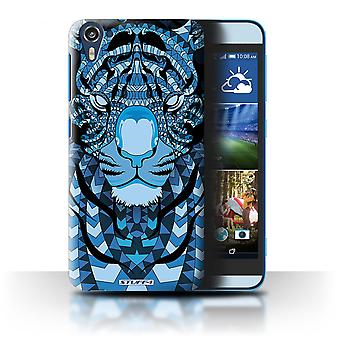 STUFF4 Case/Cover for HTC Desire 826/Tiger-Blue/Aztec Animal