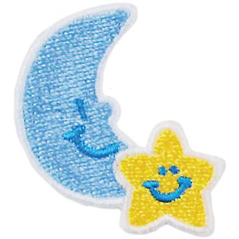Iron On Appliques Moon & Star 1 Pkg A001300 232