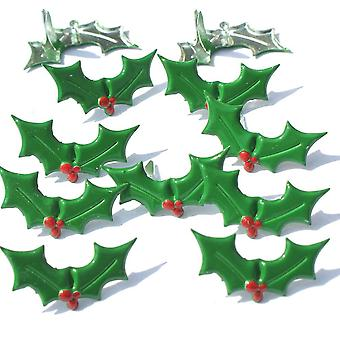 Broderie anglaise prise forme Brads 12 Pkg Holly Qbrd2 284