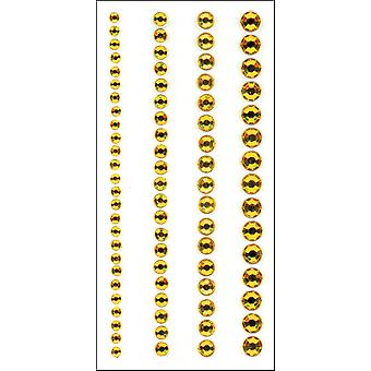 Crystal Stickers Elements 73 Pkg Round  Yellow 16Cs 1689