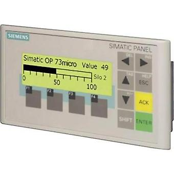 Siemens SIMATIC OP 73micro for S7-200 6AV6640-0BA11-0AX0 Resolution 160 x 48 pix Interface(s) RS 485 Protection type IP6
