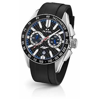 TW Steel Mens Yamaha noir Silicone bracelet GS1 Watch