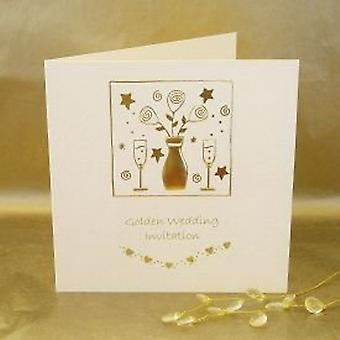 Golden Wedding Anniversary Invitations - Pack of 5