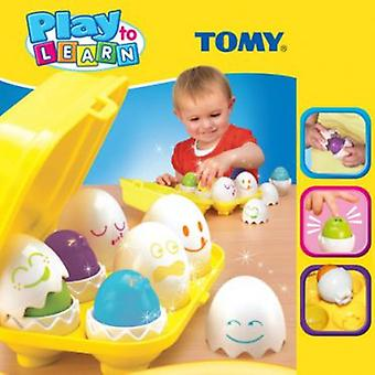 Tomy eggs nestable with forms (babies, toys, stuffed animals and dolls)