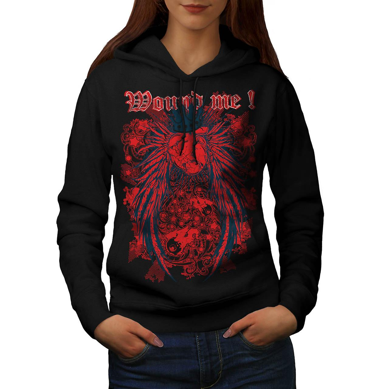 Monticule Me cœur Royal Love Queen femme Black Hoodie | Wellcoda