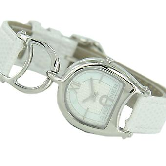 Aigner ladies watch Arte wristwatch leather band white A32217A