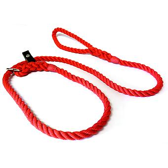 KJK rebslageri Slip bly med læder stoppe rød 10mm 150cm