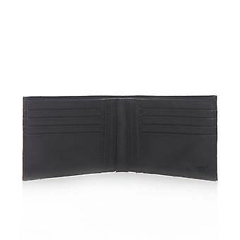 Armani Jeans AJ authentique noir Embosed mens Logo wallet 8 carte titulaire 06V73 Q7