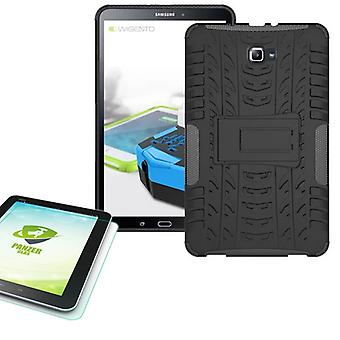 Hybrid outdoor case for Samsung Galaxy tab A 10.1 T580 + 0.4 armoured glass