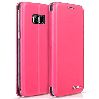 Caseflex Samsung Galaxy S8 Snap Wallet Case Pink (Retail Box)