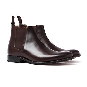Grenson Declan Dark Brown Leather Chelsea Boots