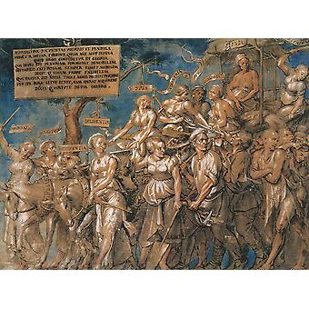 Hans The Younger - Triumph of Poverty Poster Print Giclee