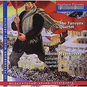 Taneyev kvartetten - N. Miaskovsky - komplet strygekvartetter 2 [CD] USA importerer
