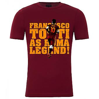 Francesco Totti Roma Legend T-Shirt (Burgundy)