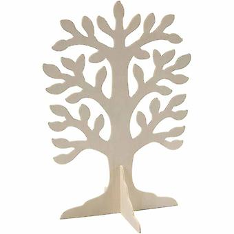 10 Large 3D Wooden Tree Shapes for Jewellery | Wooden Shapes for Crafts
