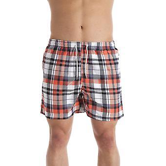 Camille Mens Orange Check Print Swmming Shorts