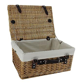 Wicker Picnic Basket with White Lining