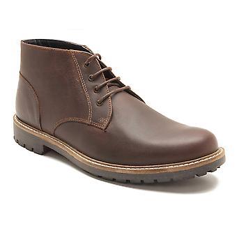 Madera marrón cuero desierto cinta roja Langdale hombres botas