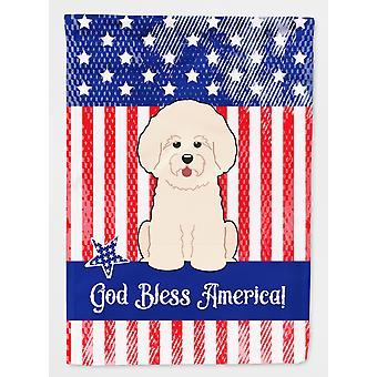 Carolines skatter BB3070GF patriotiske USA Bichon Frise flagg hage størrelse