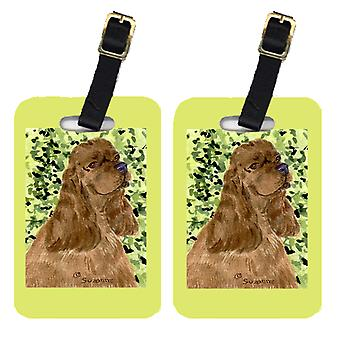 Carolines Treasures  SS8807BT Pair of 2 Cocker Spaniel Luggage Tags