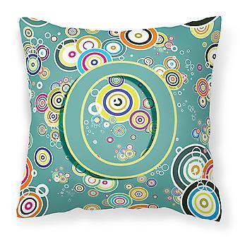 Письмо O круг круг чирок Первоначальный алфавит холст ткани декоративные подушки
