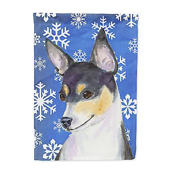 Carolines skatter SS4656-flagg-foreldre Chihuahua vinter snøflak ferie flagg