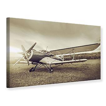 Lona impresión nostálgica aviones en estilo Retro