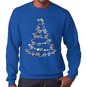 Toy Story Characters Christmas Tree Baubles Men's Sweatshirt